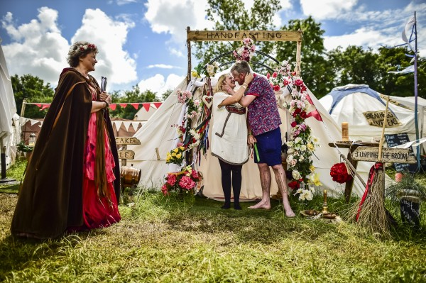 Glastonbury handfasting ceremony (Ben Birchall/PA)
