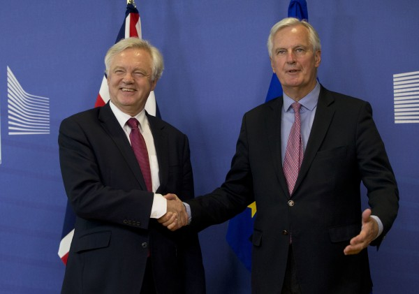 David Davis and Michel Bernier (Virginia Mayo/AP)