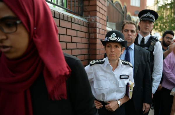 Metropolitan Police Commissioner Cressida Dick arrives at Finsbury Park Mosque (John Stillwell/PA)