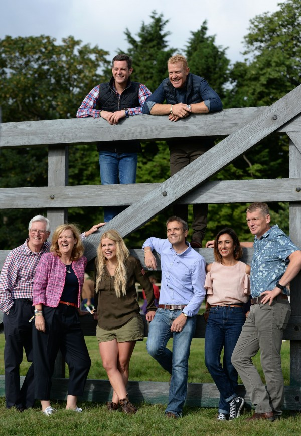 t) Presenters John Craven, Charlotte Smith, Ellie Harrison, Matt Baker, Adam Henson, John Hammond, Anita Rani and Tom Heap during the photocall to open BBC Countryfile Live at Blenheim Palace in Oxfordshire.