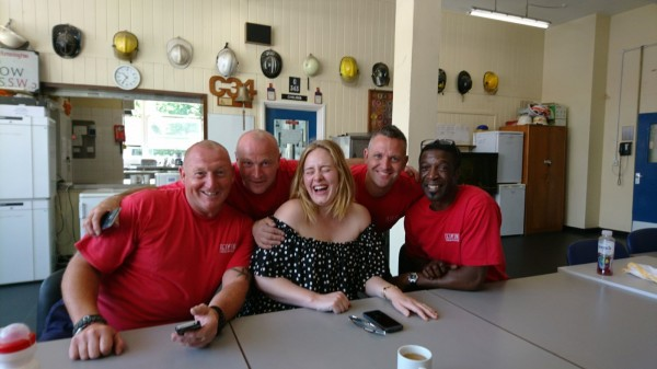 Adele turned up unannounced with cake (London Fire Brigade)