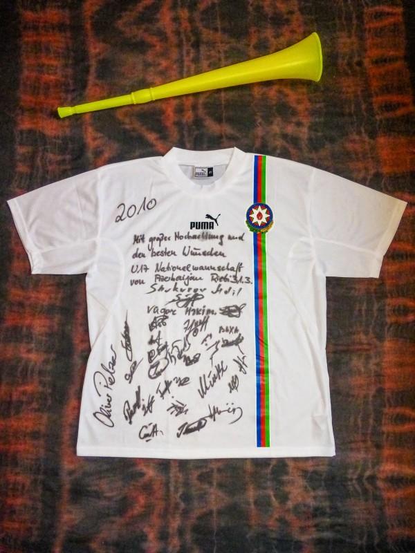 An Azerbaijan under-17 shirt