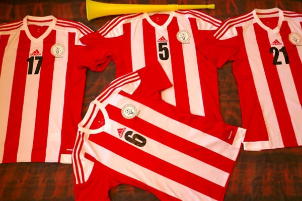 Some Madagascar football shirts