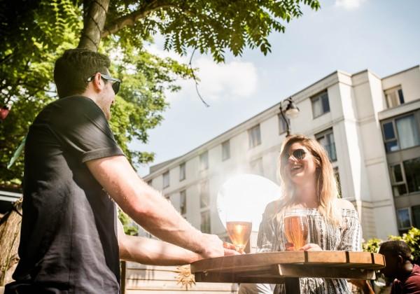 Beer garden smart mirror
