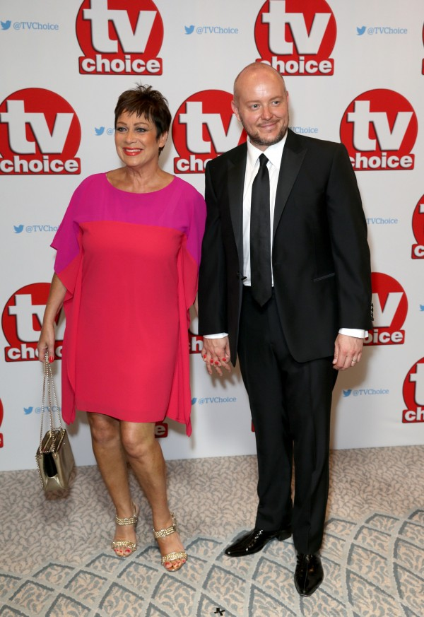 Denise Welch and her husband Lincoln Townley (Daniel Leal-Olivas/Press Association Images)