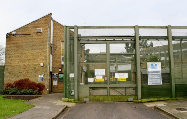 the entrance to HMP Cookham Wood