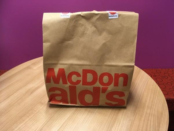 A McDonald's bag