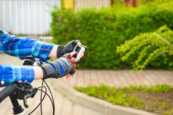 Bicycle smartphone.