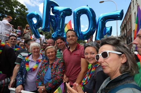 Taoiseach Leo Varadkar attends the Dublin LGBTQ Pride Festival