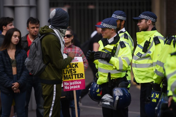 Police talking to campaigners