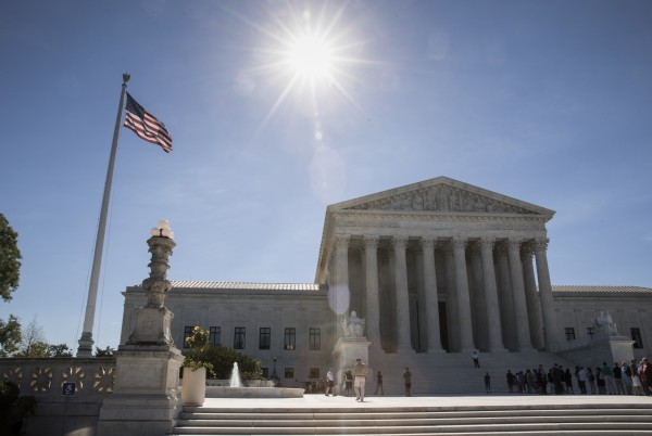 People visit the Supreme Court in Washington