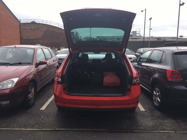 The Skoda's large boot made it ideal for a long journey