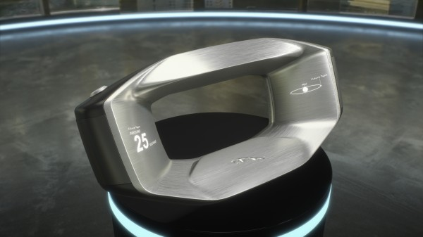 Sayer is a steering wheel that features artificial intelligence