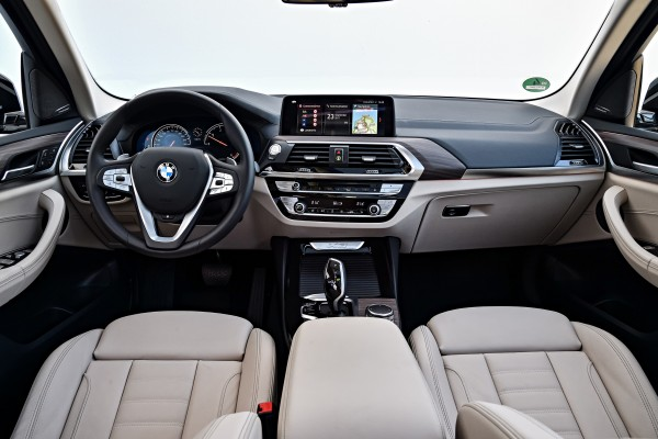 The interior of the X3 features high-quality materials