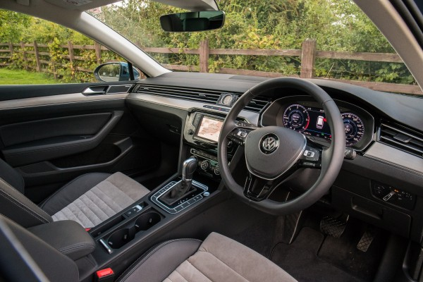 The Passat's interior is similar to that found in other current VW products
