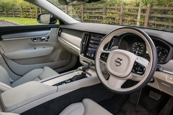 The Volvo's interior is very well made