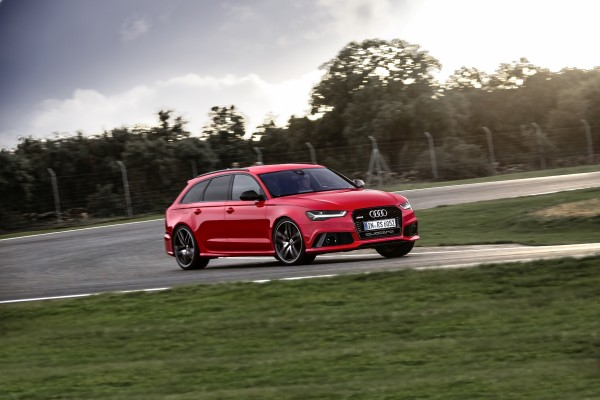 The RS6 uses a powerful V8 engine