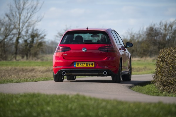 Twin exhaust pipes give the GTI Performance a quality sound