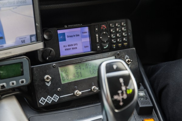 In-car tech helps the HGV stay connected to patrol cars in the area