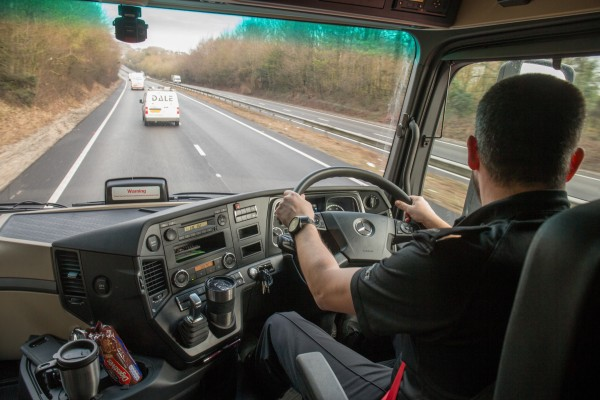 Unmarked HGVs help catch drivers using their mobile phones
