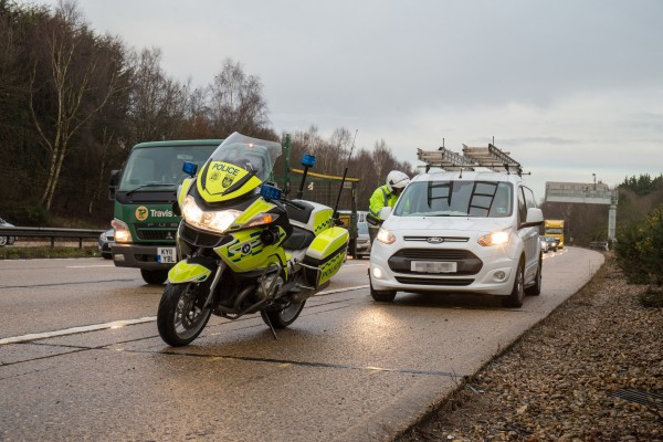 Police bikes help swoop on offending drivers