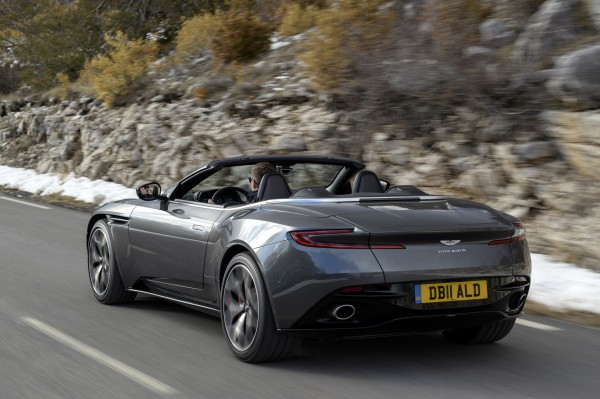 The rear of the DB11 Volante looks sharp