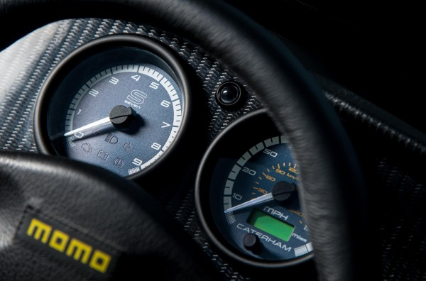 The Caterham's dials are clear and easy to read
