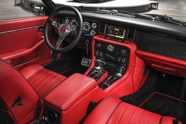 The XK's interior has been fully modified